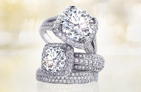 halo diamond rings