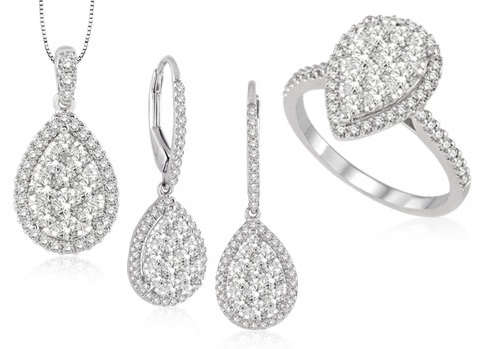 pear shaped diamond rings